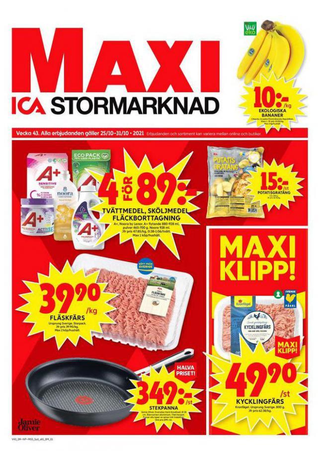 ICA Maxi Erbjudanden. ICA Maxi (2021-10-31-2021-10-31)