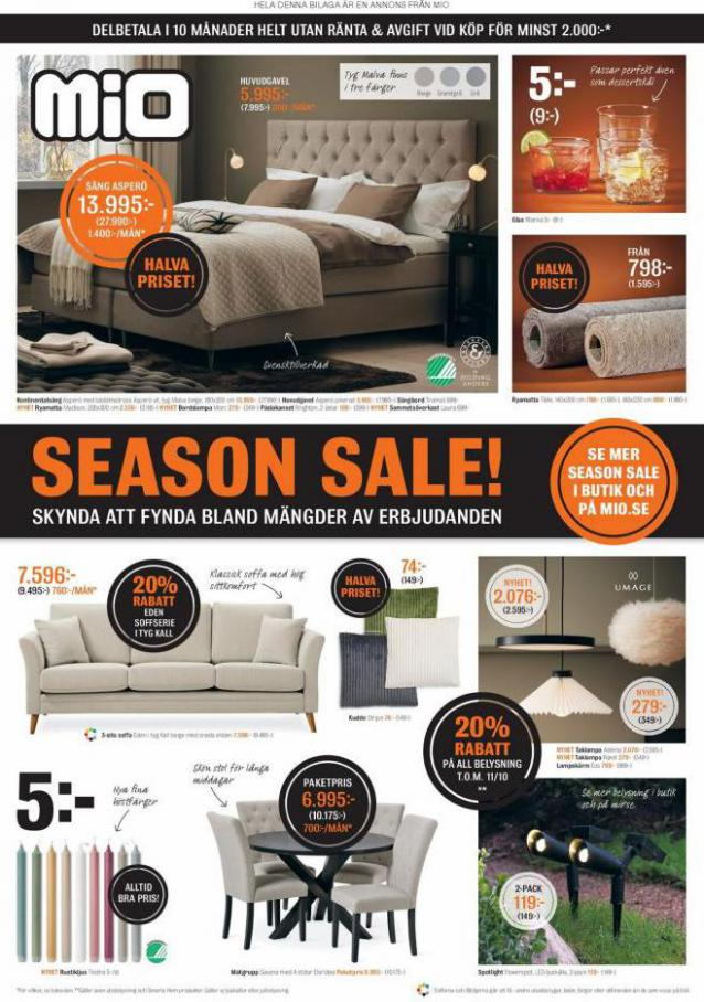 Mio Erbjudande Season Sale!. Mio (2021-10-18-2021-10-18)