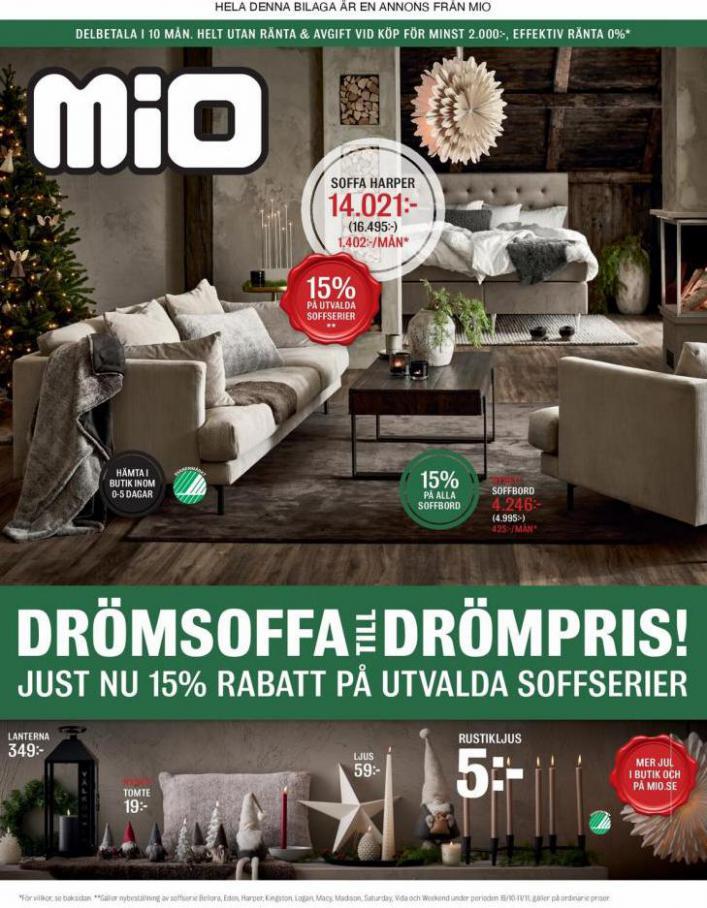 Mio Erbjudande Drömsoffa till Drömpris!. Mio (2021-11-11-2021-11-11)