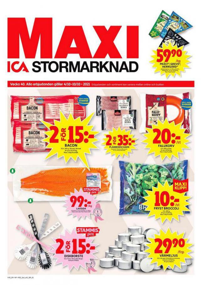 ICA Maxi Erbjudanden. ICA Maxi (2021-10-10-2021-10-10)