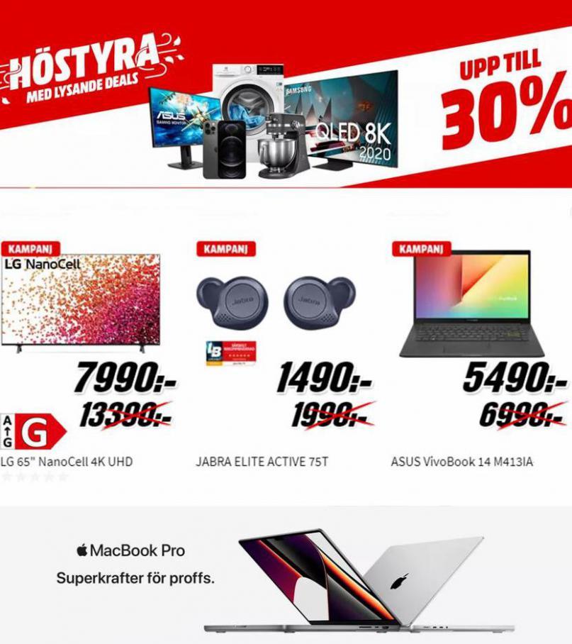 Media Markt Erbjudande Kampanjer. Media Markt (2021-10-30-2021-10-30)