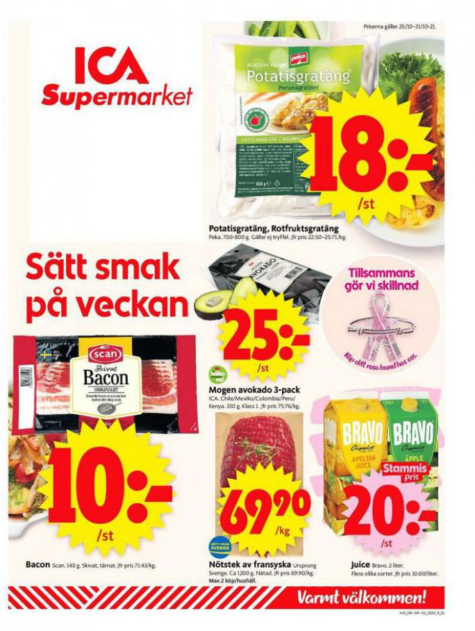 ICA Supermarket Erbjudanden. ICA Supermarket (2021-10-31-2021-10-31)
