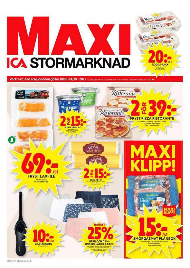 ICA Maxi Erbjudanden. ICA Maxi (2021-10-24-2021-10-24)